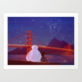 You're in the night sky now, Tadashi Art Print