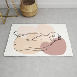 Line Art Nude Woman I Rug