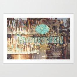 Confectionary Windo Shopping Art Print