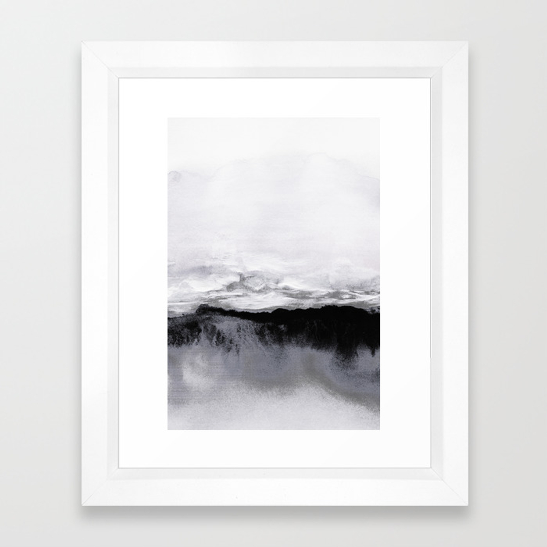Abstract And Black White Framed Art Prints Society6