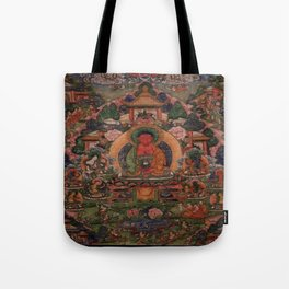 Buddha Amitabha in His Pure Land of Suvakti Tote Bag