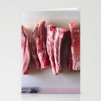 meat Stationery Cards featuring Meat Meat Meat  by The Avant-Garden