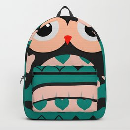 Owl and heart pattern Backpack