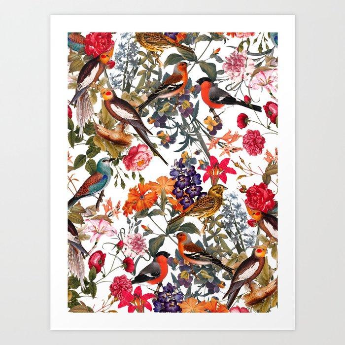 Floral and Birds XXXIII Kunstdrucke