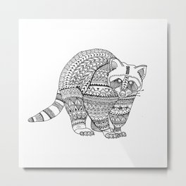 brightness's bear raccoon. Metal Print