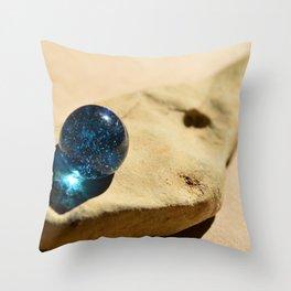 Blue eyed fish Throw Pillow