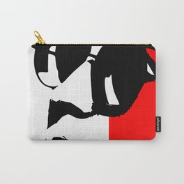 Contemporary Hipster - Black, White, Red Vector Pop Art Carry-All Pouch