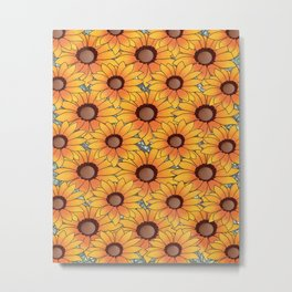 Sunflower print, sunflower design, mothers gift sunflower design Metal Print