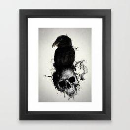 Raven and Skull Framed Art Print