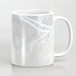 Pastel Teal & Grey Marble - Ombre Coffee Mug
