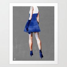Blue Dress Art Print