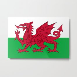 Flag of Wales - Hi Quality Authentic version Metal Print