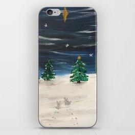 Christmas Snowy Winter Landscape iPhone Skin
