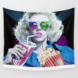 Watching Movie Wall Tapestry