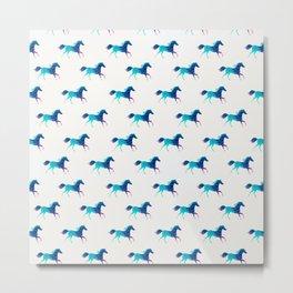 blue horse pattern Metal Print