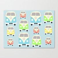 vans Canvas Prints featuring Camper Vans by Laura Maria Designs