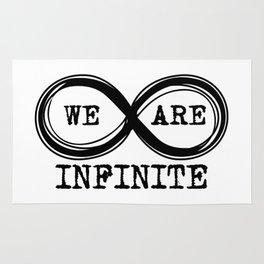 We are infinite. (Version 3, in black) Rug