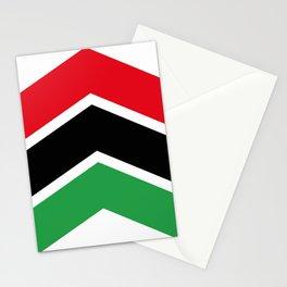 Chevron Libya Flag Colors Stationery Cards