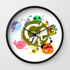 CARE - Love Our Earth Wall Clock