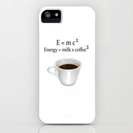 Coffee E=mc2 iPhone Case