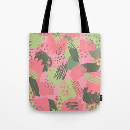 Pink & Green cool brush Tote Bag