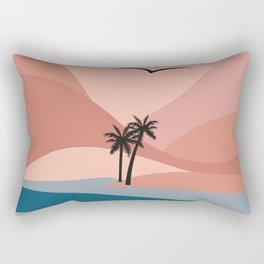 Island Flight Pattern Rectangular Pillow