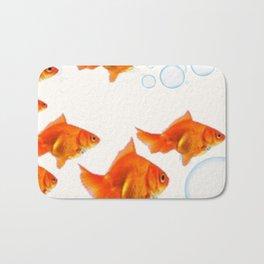 PET GOLD FISH  AQUARIUM ART DESIGN Bath Mat