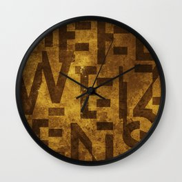 Hefeweizens Beer Typography Wall Clock