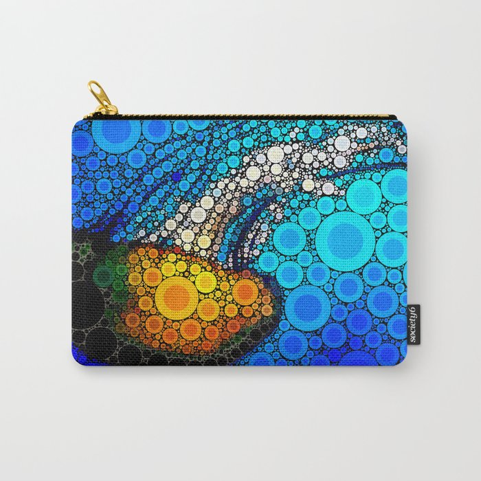 Ocean jellyfish photo bubble art | Go with the flow Carry-All Pouch