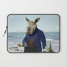 Mr. Rhino's Day at the Beach Laptop Sleeve