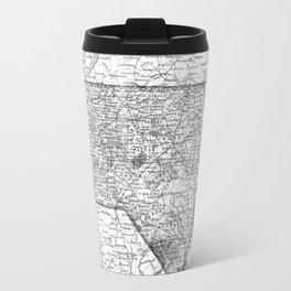 Vintage Map of North Carolina (1859) BW Travel Mug