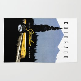 Union Pacific Train poster 1936 - Retouched Version Rug