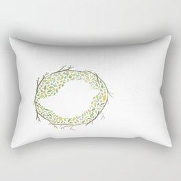 Green Little Bird Nest Rectangular Pillow