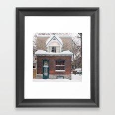 House & Snow Framed Art Print