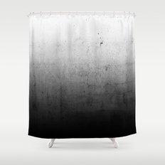 Black Ombre Concrete Texture Shower Curtain
