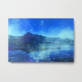 Surreal Blue Mountains Metal Print
