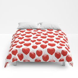 Strawberries - trendy fresh tropical fruit vegan vegetarian juice juicing cleanse Comforters