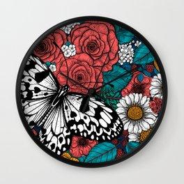 Paper kite garden Wall Clock