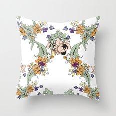 garden lace Throw Pillow