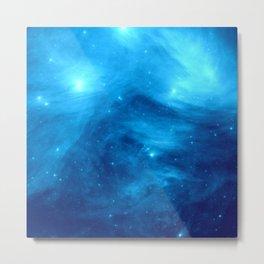 Blue Galaxy : Pleiades Star Cluster nebUla Metal Print