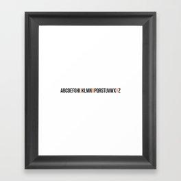JOY alphabet Framed Art Print