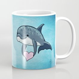 Love Ya! ~ Baby Dolphin by Amber Marine ~ Blue ~ (Copyright 2014) Coffee Mug