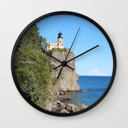 A light on Superior's shores Wall Clock
