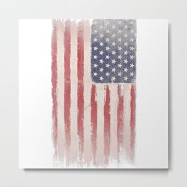 Painting American flag Metal Print