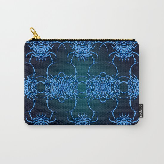 Tribal Crab Pattern Carry-All Pouch