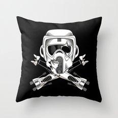 Jolly Biker Throw Pillow