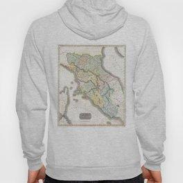Vintage Map of Tuscany Italy (1814) Hoody