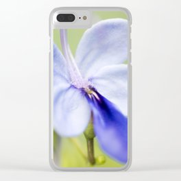 Blue Glory Bower Clear iPhone Case