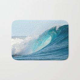 Crashing barrel wave in the Pacific Ocean Bath Mat