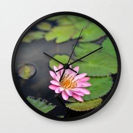 Water Lily, IX Wall Clock